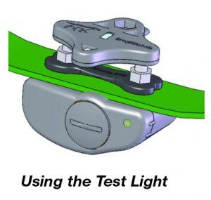 using the test light